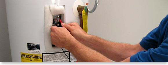 testing whirlpool electric water heater thermostat for power with voltmeter