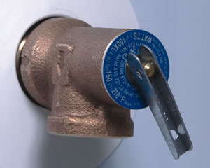 Water Heater Temperature and Pressure Relief Valve