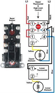 standardelectric 3_190x317 how standard electric water heaters work whirlpool electric water heater thermostat wiring diagram at bayanpartner.co